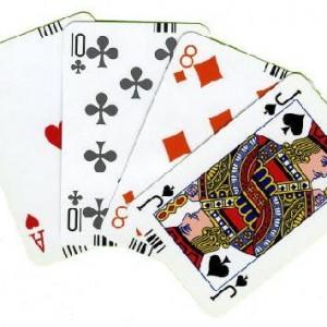 Karty brydżowe z kodem paskowym - GRIMAUD